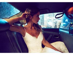 dress, wedding, and fox image