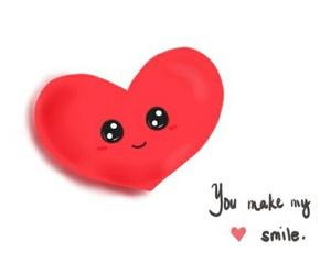cartoon, hearts, and cute image