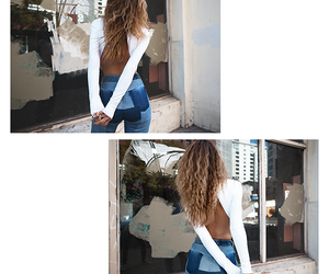 back, curly, and hair image