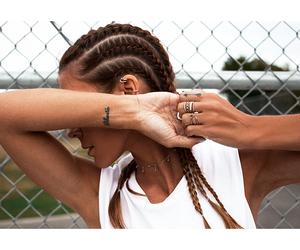 braids, hair, and tattoo image