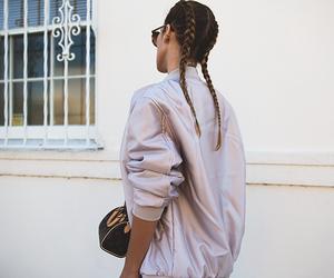 bag, jacket, and braid image