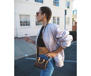 braids, fashion, and bag image