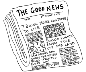 news, good, and newspaper image