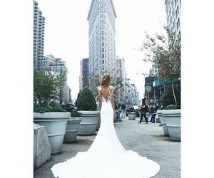 city, dress, and wedding image