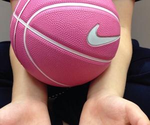 Basketball, nike, and pink image