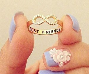 best friends, ring, and nice image