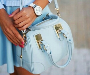 bag, girly, and fashion image