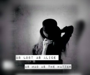 alice, hat, and mad image