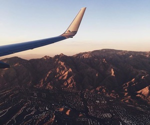 airplane, california, and inspiration image