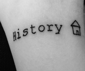bw, history, and tattoo image