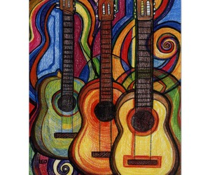 art, drawing, and guitars image