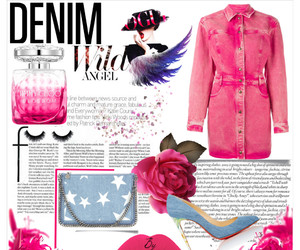 angel, pink, and denim image