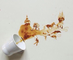 coffee, creative, and stain image