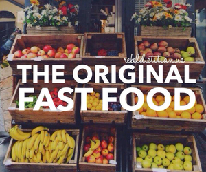 fruit, healthy, and fast food image
