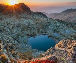 mountains, bulgaria, and lake image