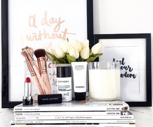 flowers, makeup, and beauty image