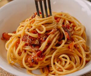 bacon, italian, and pasta image