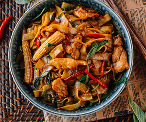 Chicken, noodles, and thai image