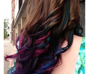 color hair, colored hair, and dyed hair image