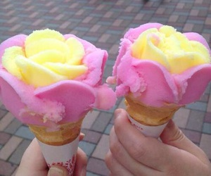 ice cream, food, and pink image