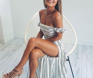 dress, fashion, and smile image