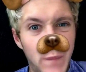 niall, directioner, and snapchat image