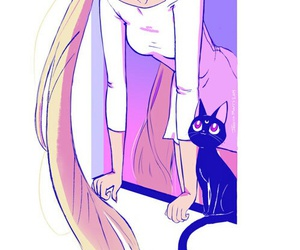 sailor moon, anime, and luna image