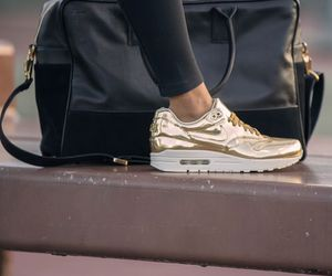 nike, gold, and style image