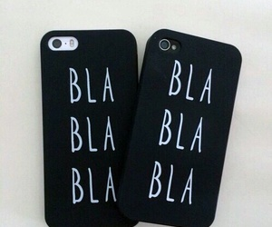 black, iphone, and bla bla image