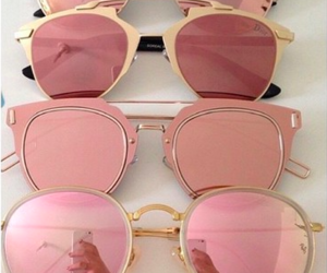 pink, sunglasses, and summer image