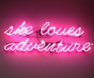 adventure, pink, and light image