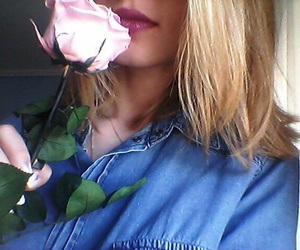 blond, lips, and pink image