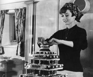 audrey hepburn, birthday, and cake image