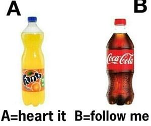 fanta, coca cola, and follow image