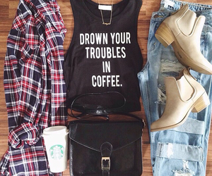 fashion, outfit, and flannel image