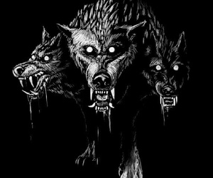 cool, drawing, and wolf image