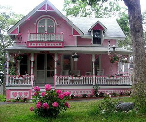 house, pink+house, and barbie+house+ image