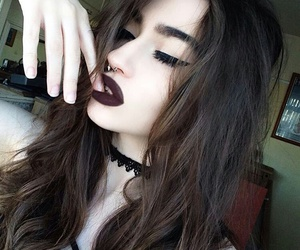 accessories, dark, and hair image