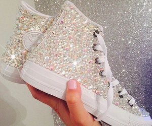 shoes, converse, and glitter image