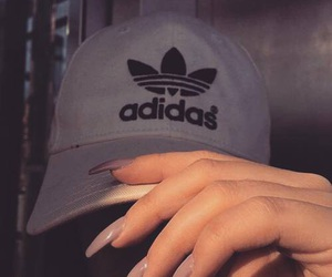 adidas, nails, and cap image