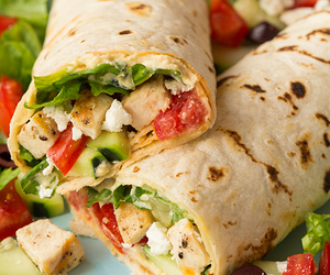 food, Chicken, and wrap image