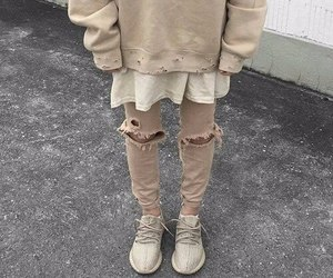 fashion, beige, and yeezy image