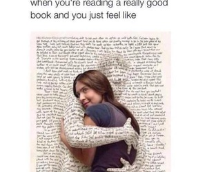 book, hug, and reading image