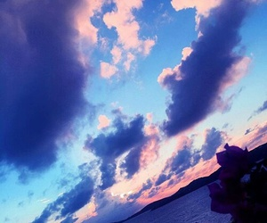 beautiful, pink, and purple image