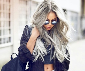 accessoiries, bags, and dyed hair image