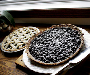 pie, blueberry, and food image