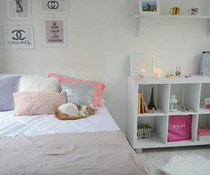 decoration, pink, and rooms image