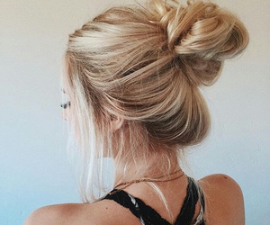 beautiful, hairstyle, and blonde image