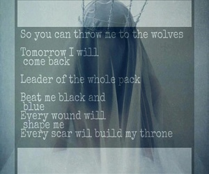 throne and wolf image