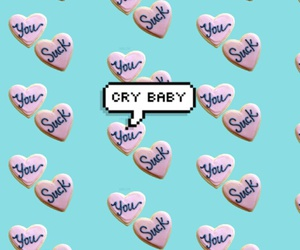 wallpaper, background, and cry baby image